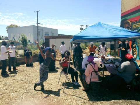 West Oakland Activists Vow to Defend Afrika Town Community Garden By Luke Tsai